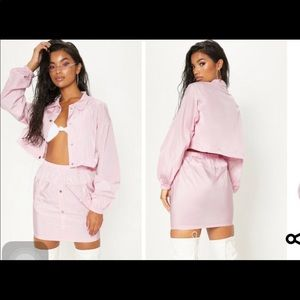Shell pink suit set